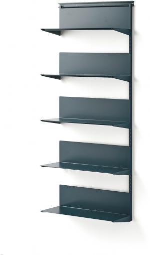 Nástenný regál Shape, prídavná sekcia, 1950x805x300 mm, modrý