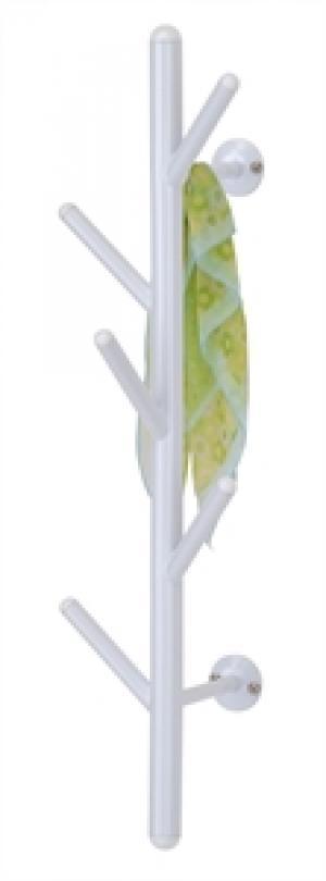 Nástenný vešiak - biely, 63cm