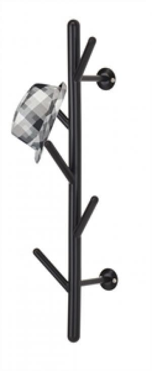Nástenný vešiak - čierny, 63cm