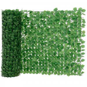 [neu.haus]® Drôtený plot s lístkami - 100 x 300 cm
