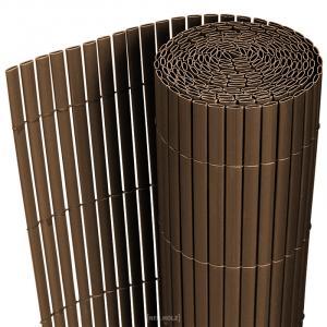 [neu.holz]® Plastové rákosie na plot - 90 x 300 cm - hnedé