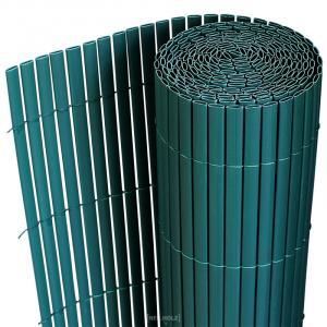 [neu.holz]® Plastové rákosie na plot - 90 x 300 cm - zelené
