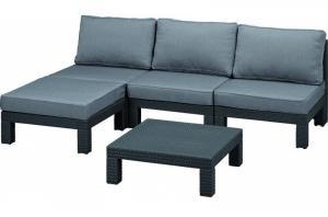 NEVADA set - antracit + sivé podušky