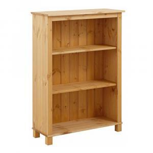Nízka knižnica z masívneho borovicového dreva Støraa Pinto