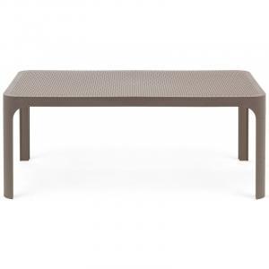 Nízký zahradní stolek Nardi Net 100 hnědý