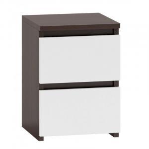 Nočný stolík MALWA M2 mix tmavohnedý a biely