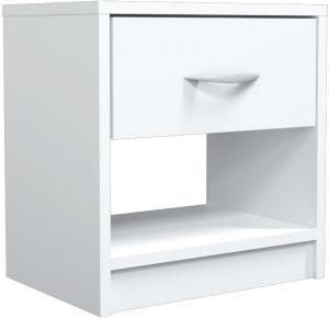 Noční stolek NAKA bílý