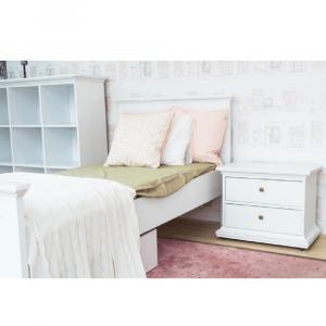 Nočný stolík, biela, PARIS 70301
