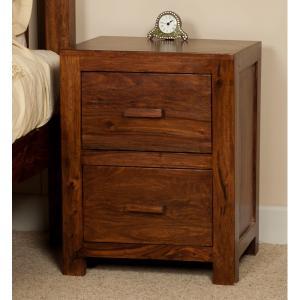 Nočný stolík Kali 45x50x40 indický masív palisander - Only stain