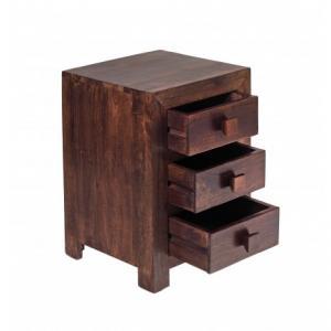 Nočný stolík Kali 45x60x40 indický masív palisander - Natural