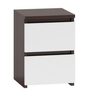 Nočný stolík M2 wenge/biela