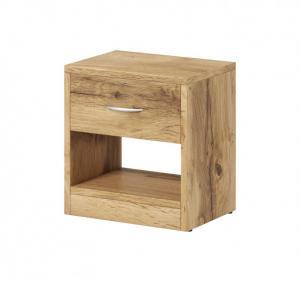 Nočný stolík Naka 1S (dub wotan)