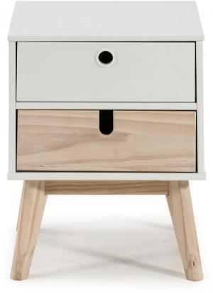 Nočný stolík so zásuvkami Marckeric Kiara
