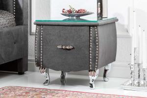 Nočný stolík Spectacular, 45 cm, antik sivý