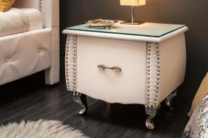 Nočný stolík Spectacular, 45 cm, biely