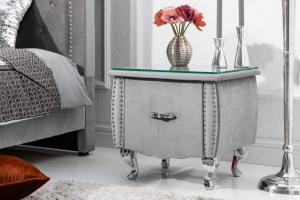 Nočný stolík Spectacular, 45 cm, strieborno-sivý