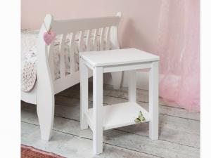 Nočný stolík Fosil (biela)