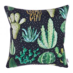 Obliečka na vankúš Apolena Dark Cactus, 43×43 cm