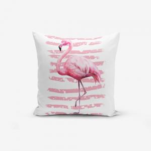 Obliečka na vankúš Minimalist Cushion Covers Linears Flamingo, 45 × 45 cm