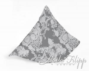 Obliečka na vankúš PLAZA Grey | Bavlnený makosatén | 40x40 cm