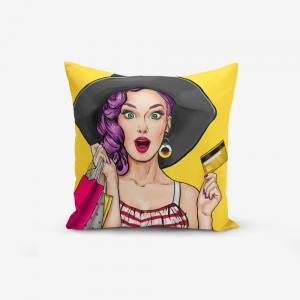 Obliečka na vankúš s prímesou bavlny Minimalist Cushion Covers Pop Art Women, 45×45 cm