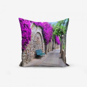 Obliečka na vankúš s prímesou bavlny Minimalist Cushion Covers Purple Street, 45 × 45 cm