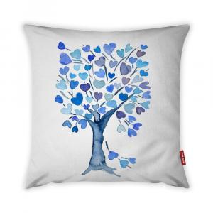 Obliečka na vankúš Vitaus Love Tree Azul, 43 × 43 cm