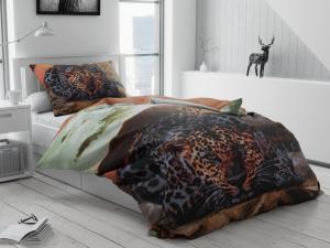 Obliečky 3D Leopard tmavý