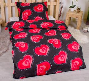 Posteľné obliečky 140x200 + 70x90 cm - Valentín