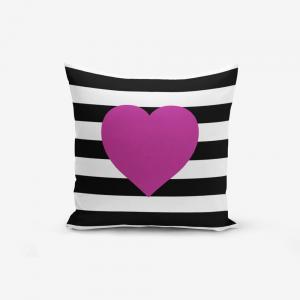 Obliečka na vaknúš s prímesou bavlny Minimalist Cushion Covers Purple, 45 × 45 cm
