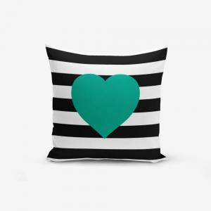 Obliečka na vaknúš s prímesou bavlny Minimalist Cushion Covers Striped Green, 45 × 45 cm