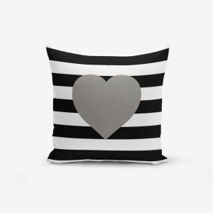 Obliečky na vaknúš s prímesou bavlny Minimalist Cushion Covers Striped Grey, 45×45 cm