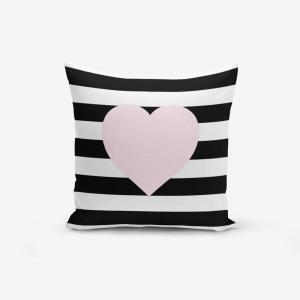 Obliečky na vaknúš s prímesou bavlny Minimalist Cushion Covers Striped Pink, 45×45 cm