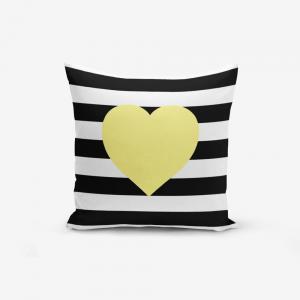 Obliečka na vaknúš s prímesou bavlny Minimalist Cushion Covers Striped Yellow, 45 × 45 cm