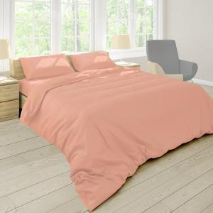 Obliečky Pastel broskyňové 140x220 jednolôžko - predĺžená bavlna