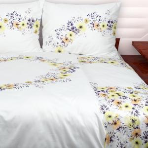 Obliečky Romantic flowers 140x200 jednolôžko - štandard Bavlnený satén
