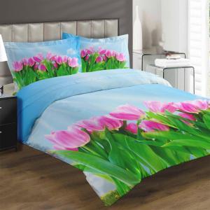 Obliečky Ružový tulipán (Rozmer: 1x140/200 + 1x90/70)
