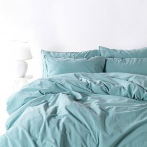 Obliečky Stonewash svetlomodré 140x200 jednolôžko - štandard bavlna