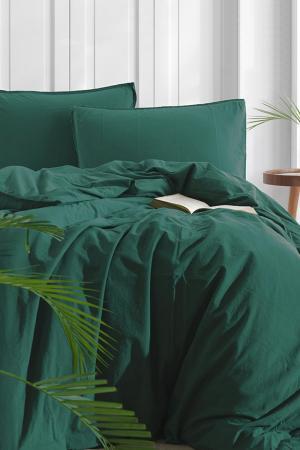 Obliečky Stonewash zelené 140x200 jednolôžko - štandard bavlna