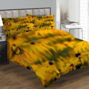 Obliečky Žlté kvety v poli (Rozmer: 1x140/220 + 1x90/70)