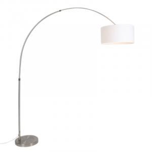 Oblúková lampa oceľové tienidlo biele 50/50/25 nastaviteľné - XXL