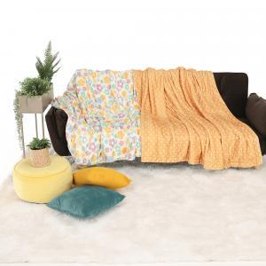 Obojstranná baránková deka, béžová/bodky, 150x200cm, ARDLE TYP2