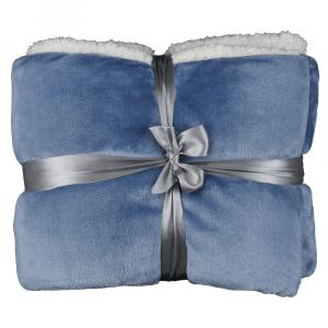 Obojstranná deka, sivomodrá, 127x152, KASALA TYP 1