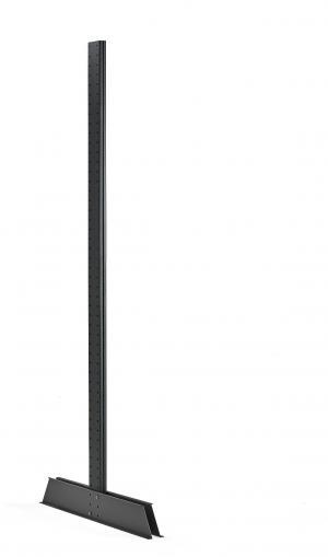 Obojstranná stojka pre konzolové a vertikálne regály Plus, vr. nožičky, 2500mm