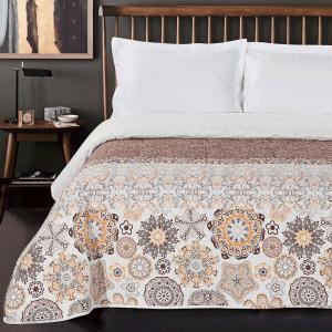 Oboustranný přehoz na postel DecoKing Alhabra hnědý