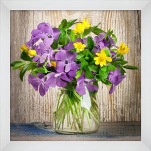 Obraz 20x20 Fialové kvety