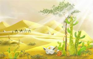 Obraz do detskej izby - V púšti zs3375