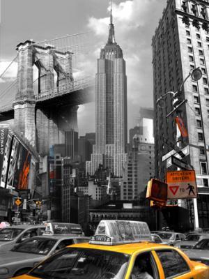 Obraz na plátne 40x50cm New York Dominanty čierno-biely