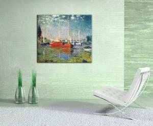 Obraz na plátne ČERVENÉ LODE V ARGENTEUIL – Claude Monet  REP073