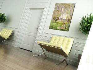 Obraz na plátne DIEVČA POD VŔBOU – Claude Monet   REP074
